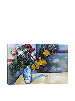 Paul Cezanne's Still Life: Flowers in a Vase Giclée Canvas Print
