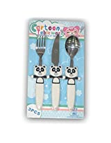 EZ LIFE Funky 3-Pc Kids Cutlery Set-Pleasing Panda