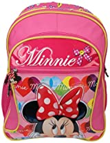 Minnie School Bag Bow with Pouch, Multi Color (18-inch)