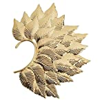 Via Mazzini Fohawk Leaf Gold Ear Cuff Earring