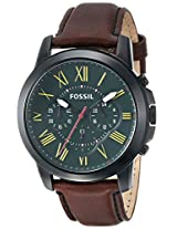 Fossil Grant Analog Green Dial Men's Watch - FS4939