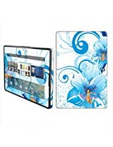 BlackBerry Playbook Vinyl Protection Decal Skin Blue Flower White