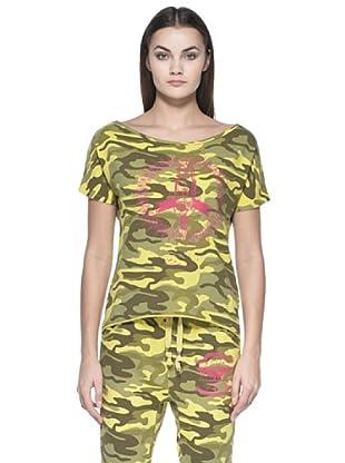 Zu Element Camiseta Casual (Caqui / Amarillo)