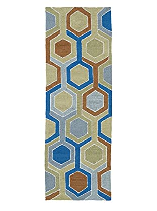 Kaleen Home & Porch Indoor/Outdoor Rug, Chino, 2' x 6' Runner