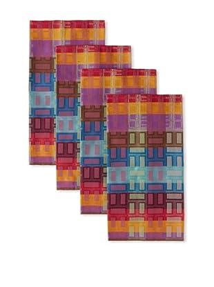 Garnier-Thiebaut Set of 4 La Ville Kitchen Towels, Neon, 22