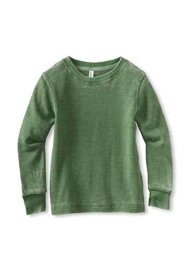 Colorfast Apparel Boy's Burnout Thermal (Grass Green)