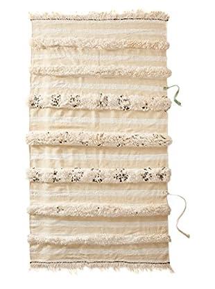Vintage Berber Wedding Rug, Crème, 3' 3