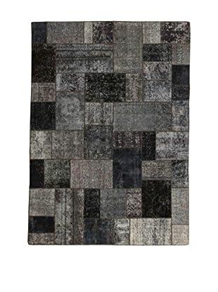 Design Community By Loomier Teppich Revive Vintage Patch grau/schwarz 174 x 245 cm