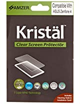 Amzer 97233 Kristal Clear Screen Protector for ASUS Zenfone 4 A400CG