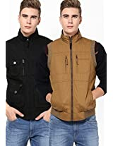 Black Reversible Quilted Jacket (Smart Fit)