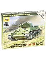 Zvezda Models Soviet Tank T-34/76 SnapKit