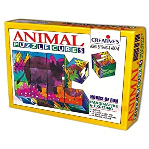 Creative Educational 0707 Animal Puzzle Cubes