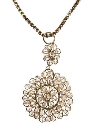 Sigris Collar Colgante Flor (Dorado Viejo)