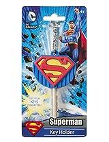 Dc Comics Superman Logo Soft Touch Pvc Key Holder (With Gift Box)