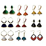 Multi color jhumka combo(set-9)
