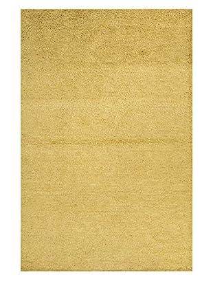 Jaipur Rugs Handmade Textured Wool Shag Rug, Green