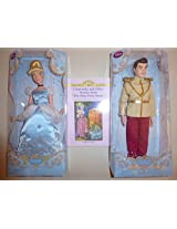 Disney 2 Doll Set Cinderella And Prince Charming Plus Book