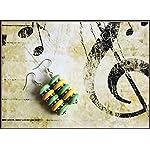 [E17M_002] Yellow and Green Magic Earrings