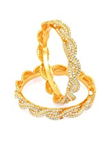 Sukkhi Gold gold-plated Bangle Set for Women 1135VB2250