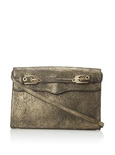 Rebecca Minkoff Women's Sophie Buckle Flap Shoulder Bag (Black/Gold)