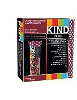 Kind Plus Bars - Cranberry Almond Plus Antioxidants - 1.4 Oz. Bars - 12 Count