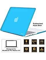 "AirPlus: AirCase - Rubberized Hard Case/ Hard Shell Cover for 13.3"" Apple MacBook Pro 13 with Retina Display (Models: A1425 and A1502), Satin Feel, Color: AQUA BLUE"