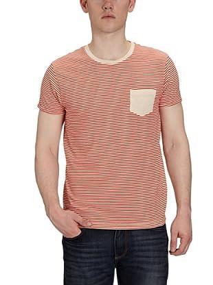 JACK & JONES Camiseta Slim Fit (Blanco / Rojo)