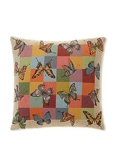"Corona Decor Co. Butterflies Jacquard Weave Pillow, Multi, 18"" x 18"""