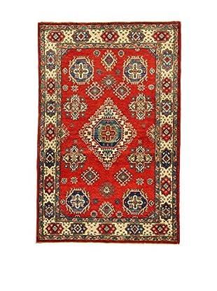 L'EDEN DEL TAPPETO Alfombra Uzebekistan Super Rojo/Multicolor 95 x 146 cm