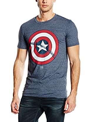 Marvel T-Shirt Manica Corta Captain America Shield