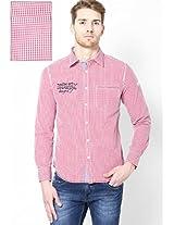 Red Checks Casual Shirt