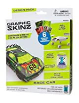 RoseArt Graphic Skinz Design Set (3-Piece), Race Car Toy