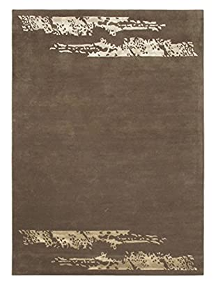 Handmade Soho Downtown Rug, Dark Khaki Grey, 5' 7