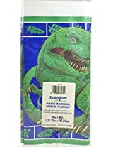 T-Rex Dinosaur Party - Plastic Tablecover (54 in. 96 in.)