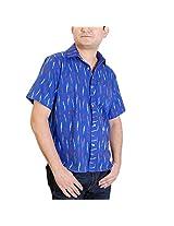 Viniyog Men Cotton Casual Shirt -Blue -38