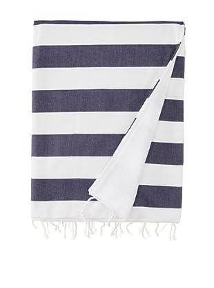 Nine Space Deck Beach Towel, Navy