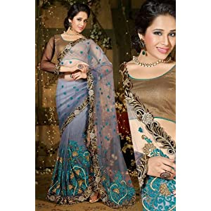 Designer Partywear Saree with Blouse