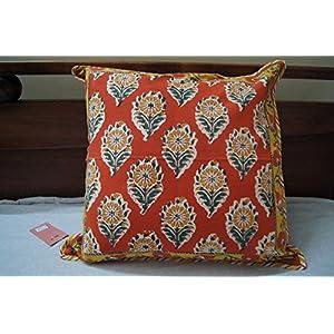 Gajgauri Hand Block Printed Cushion Cover