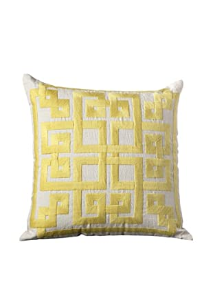 Surya Geometric Throw Pillow (Celery)