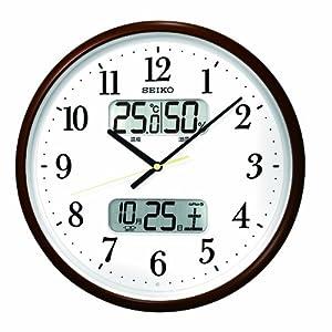 SEIKO CLOCK (セイコークロック) 掛け時計 カレンダー表示 温度表示 湿度表示 電波時計 KX348B