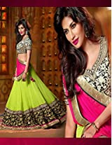 Green and Pink Bridal lehenga