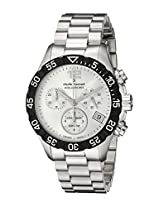 Claude Bernard Men's 10210 3 AIN Analog Display Swiss Quartz Silver Watch