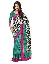 Multi Color Art Bhagalpur Silk Saree with Blouse 11322