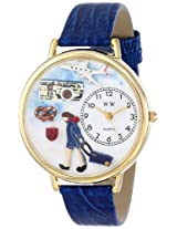 Whimsical Watches Women's G-0610007 Flight Attendant Blue Leather Watch