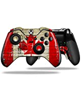 Painted Faded And Cracked Canadian Canada Flag Decal Style Skin Fits Microsoft Xbox One Elite Wireless Controller