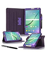Galaxy Tab S2 8.0 Case, Samsung Galaxy Tab S2 8.0 case, rooCASE Slim Fit Leather PU Multi-Viewing Tabet Stand Folio Case Sleep Wake Smart Cover Purple