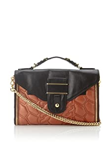 Rebecca Minkoff Women's Rivington Convertible Handbag (Black/Rust)