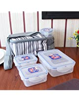 Clear Meal Kit With Bag Set of Five Pieces from Lock & Lock