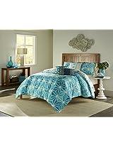 Trina Turk 2-Piece Kimono Comforter Set, Twin, Blue