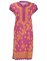 Chopra Enterprises Women's Cotton kurti (Ceckcrslvdp, Magenta, 36)
